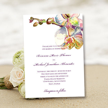 Tropical Orchid Wedding Invitation