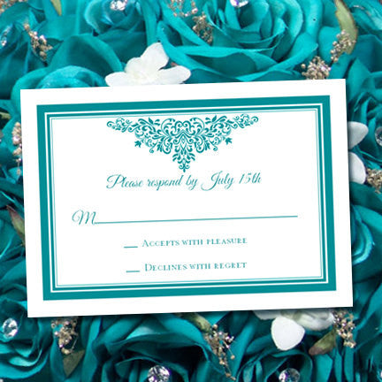 Wedding Response Cards Anna Maria Teal