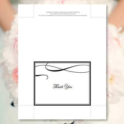 Wedding Thank You Card It's Love Black