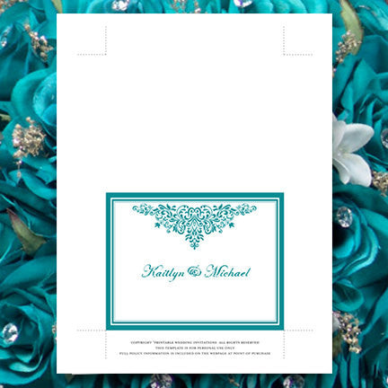 Wedding Thank You Card Anna Maria Teal