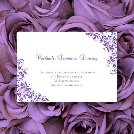 Wedding Reception Invitations Kaitlyn Purple