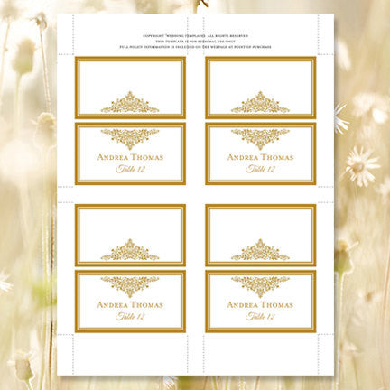 Wedding Seating Plan Set Anna Maria Gold