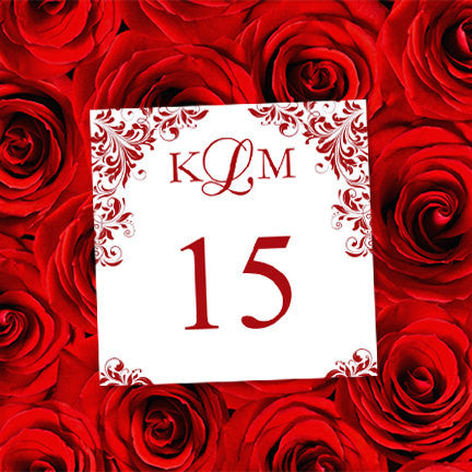Printable Table Number Template Kaitlyn Red Tent