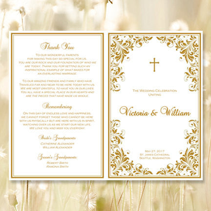 Catholic Church Wedding Program Kaitlyn Gold