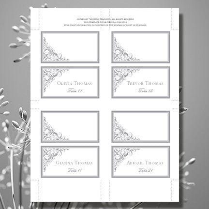 Wedding Seating Card Brooklyn Gray Tent