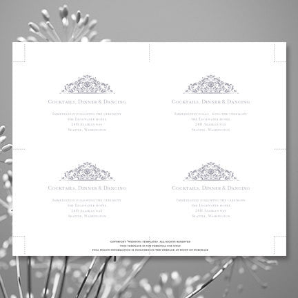 Wedding Reception Invitations Grace Gray