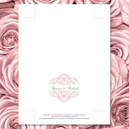 Wedding Thank You Card Grace Blush Pink