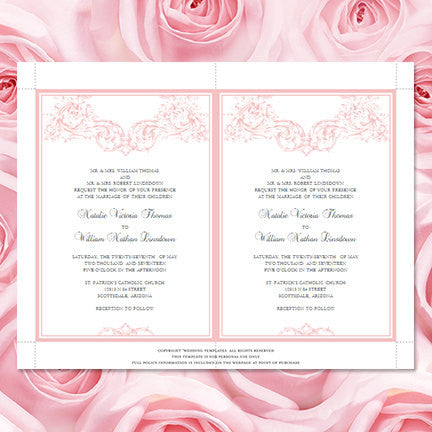 Vienna Wedding Invitation Blush Pink