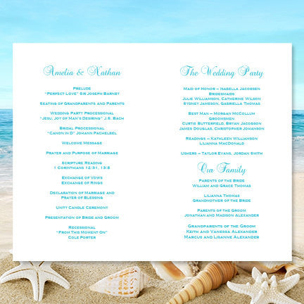 Wedding Program Template Rustic Mason Jars Blue Orange
