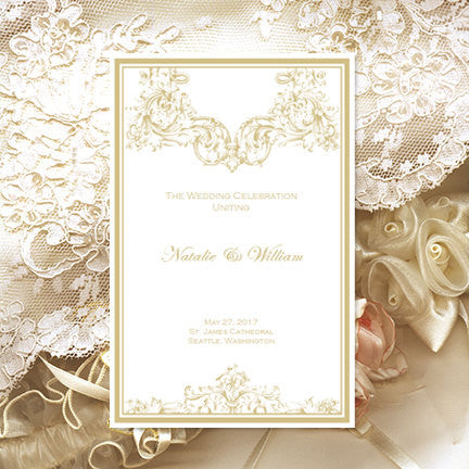 Catholic Church Wedding Program Vienna Champagne