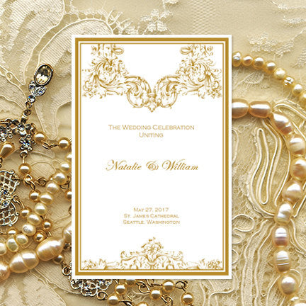 Catholic Wedding Program Vienna Gold