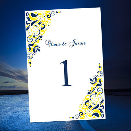 Wedding Table Numbers Printable Reception Template Cards Tagged - Wedding table numbers template