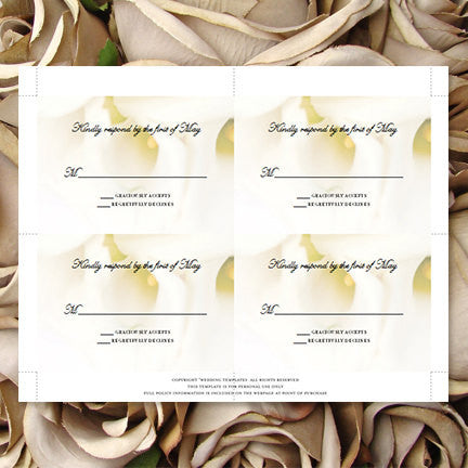 Wedding Response Cards Calla Lily