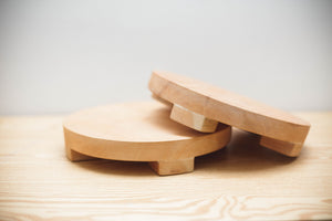 FW Round Wooden Tray