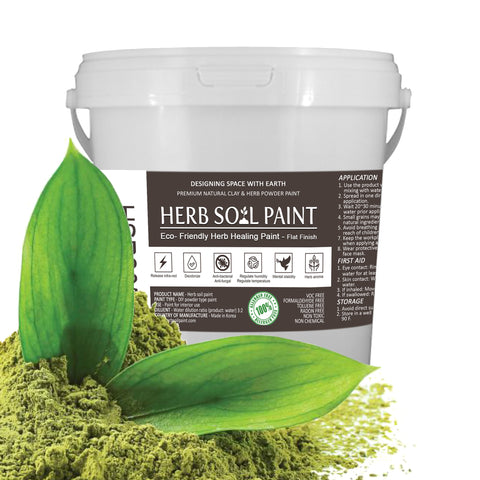 HERB SOIL PAINT Eco-friendly paint made of organic soil and natural materials