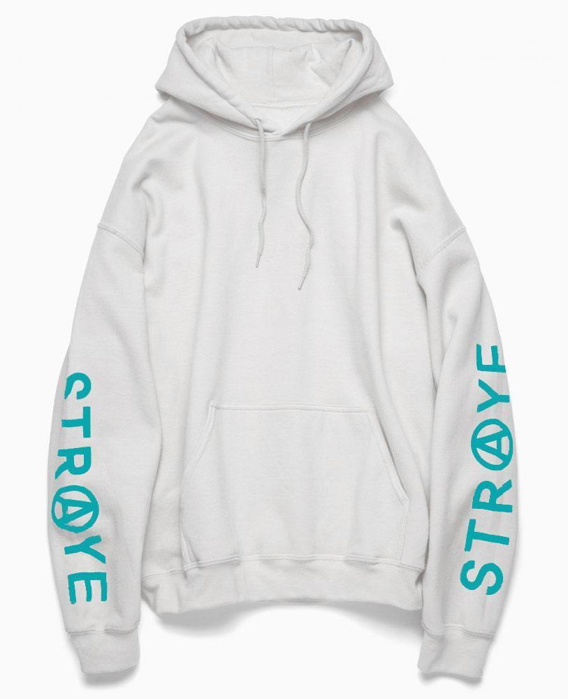 T-SHIRTS & SWEATS DE SKATE | STRAYE Hoody Trap Sand White Teal