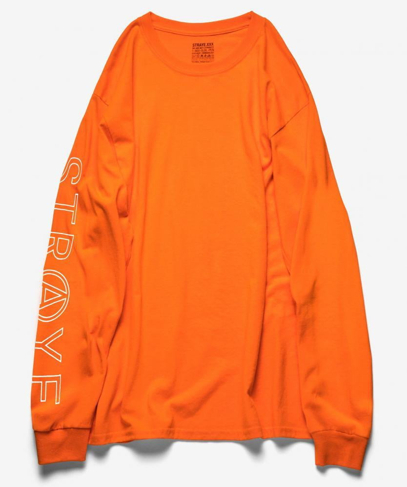 T-SHIRTS & SWEATS DE SKATE | STRAYE Longsleeve T Shirt Super Trap Burnt Orange