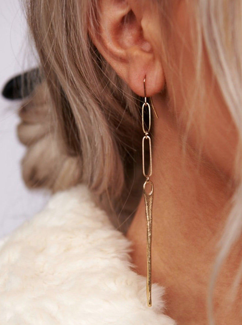 Gold Link Earring - bigcityboutique