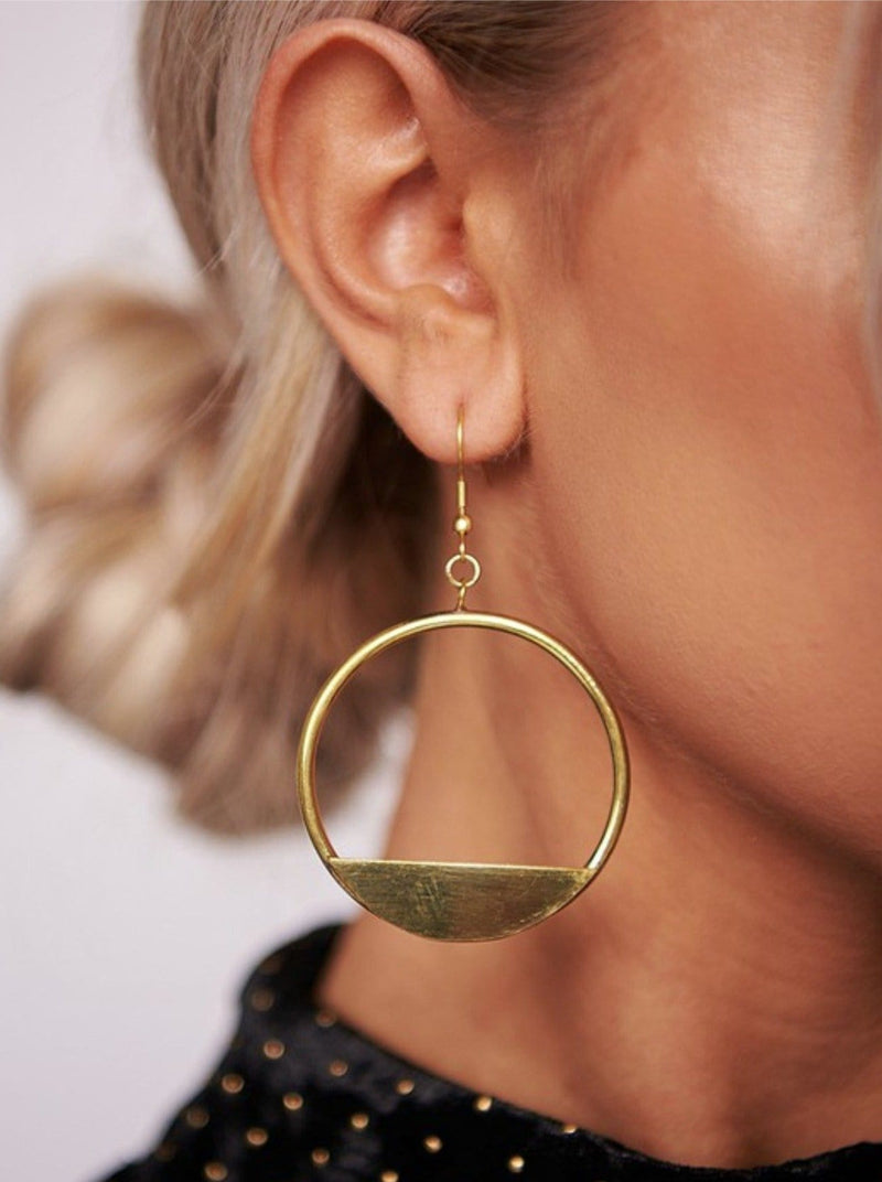 Antique Gold Hoops - bigcityboutique