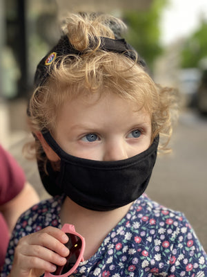 Washable & Reusable Mask - Black - KIDS