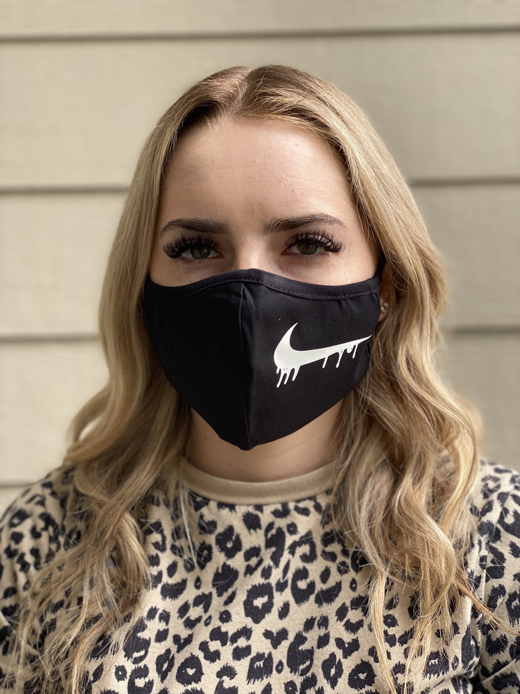 Washable & Reusable Mask - Nike Drip in White