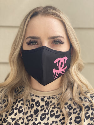 Mask - Chanel Drip (pink)