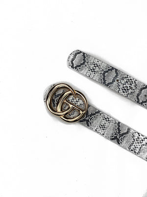 Designer inspired Snakeskin Belt - bigcityboutique