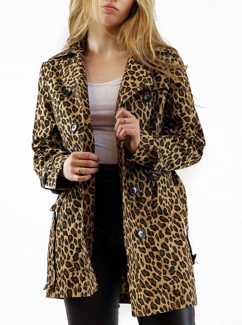Leopard Trench Coat - bigcityboutique