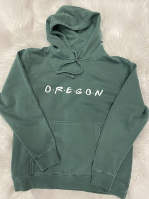 Oregon 'Friends' Hoodie - Green