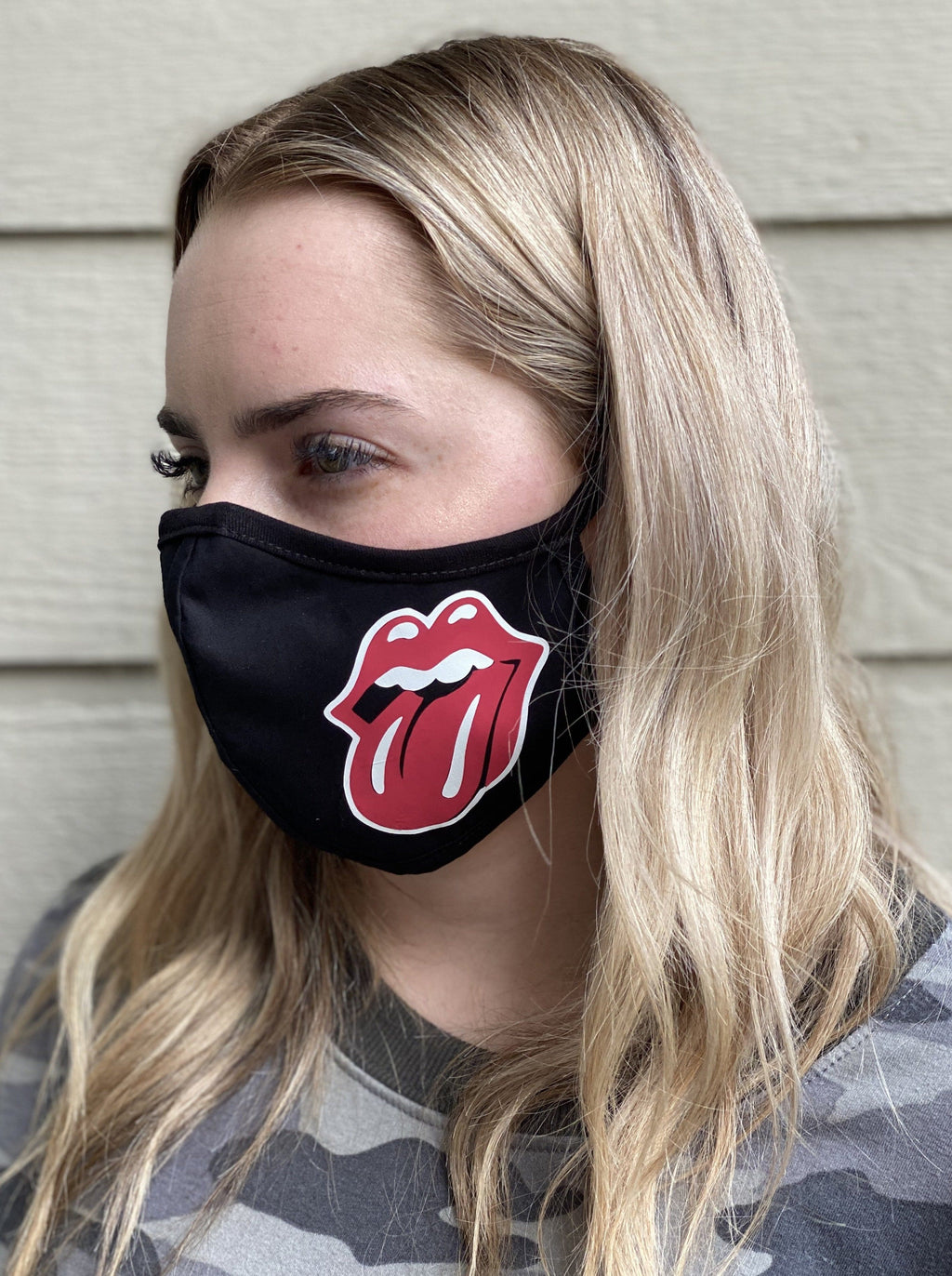 Washable & Reusable Mask - Red Lips