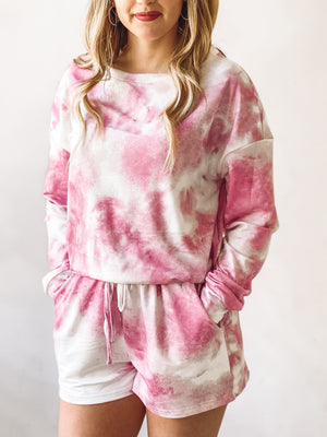 Weekend Love Loungwear Set - Pink