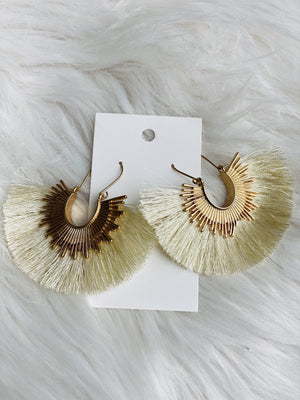 Sun Drop Earrings - Cream