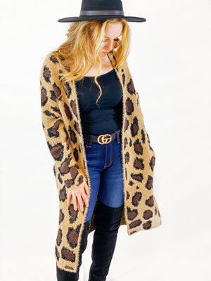 Long Leopard Cardigan - bigcityboutique