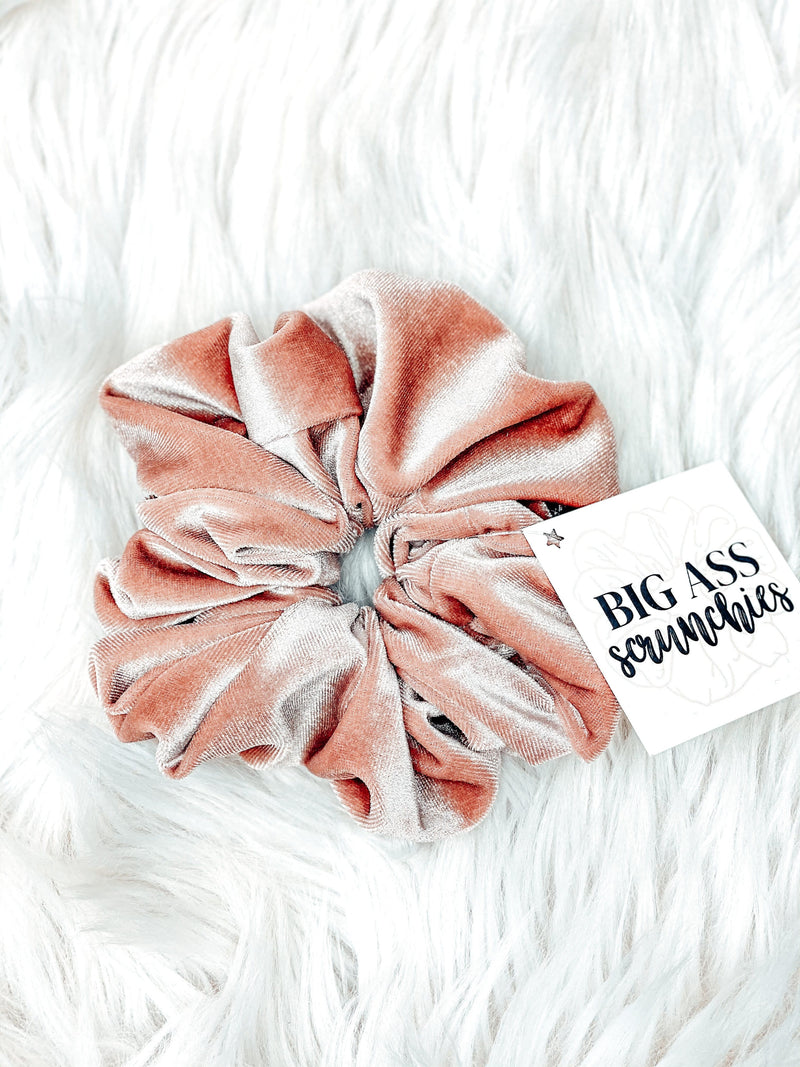 Big Ass Scrunchie- Blush Velvet