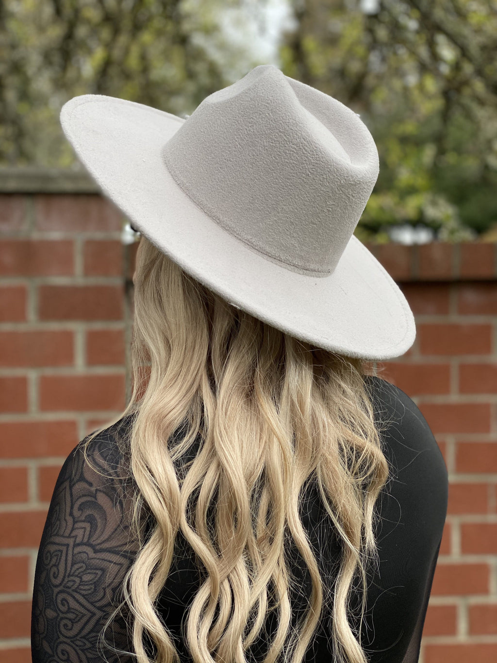 Wide Brim Felt Hat - Gray