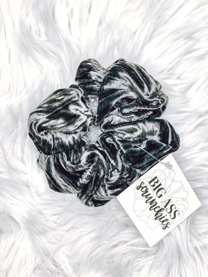 Big Ass Scrunchie- Charcoal Ribbed Velvet