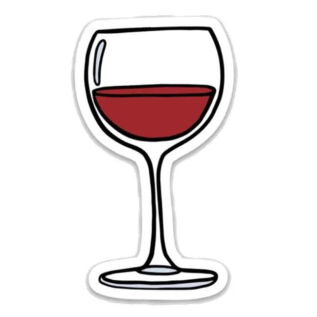Sticker - Wine Glass