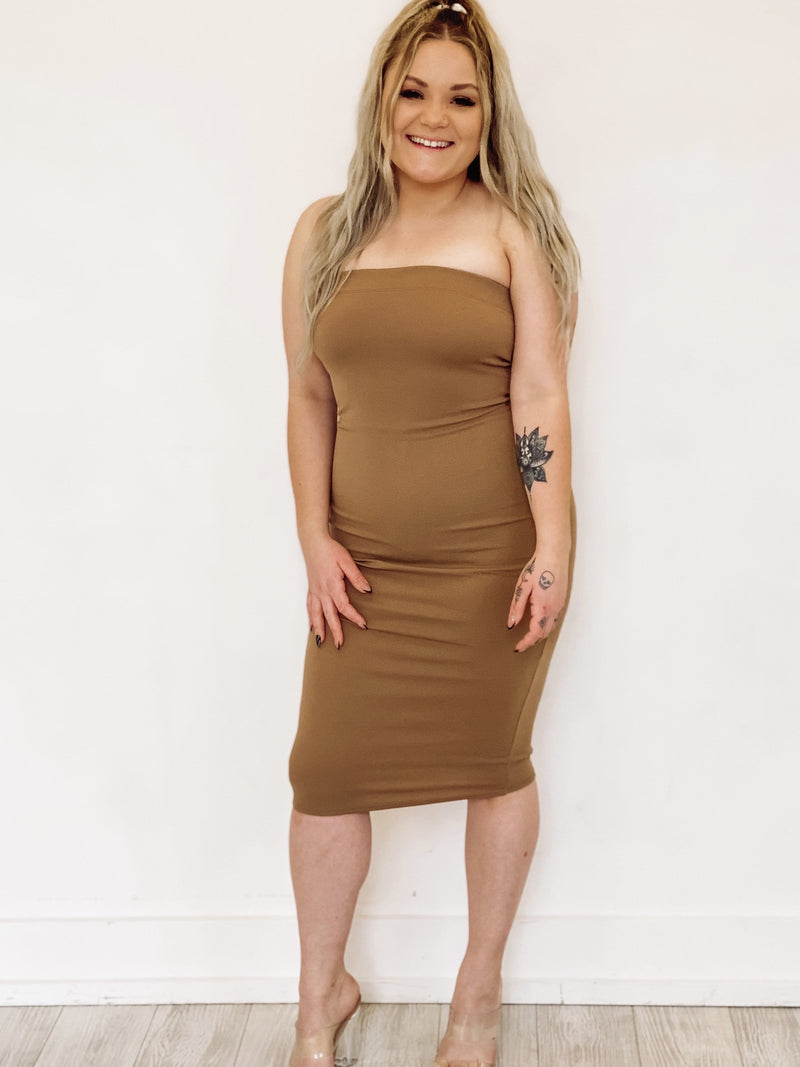 Head Over Heels Dress - Taupe