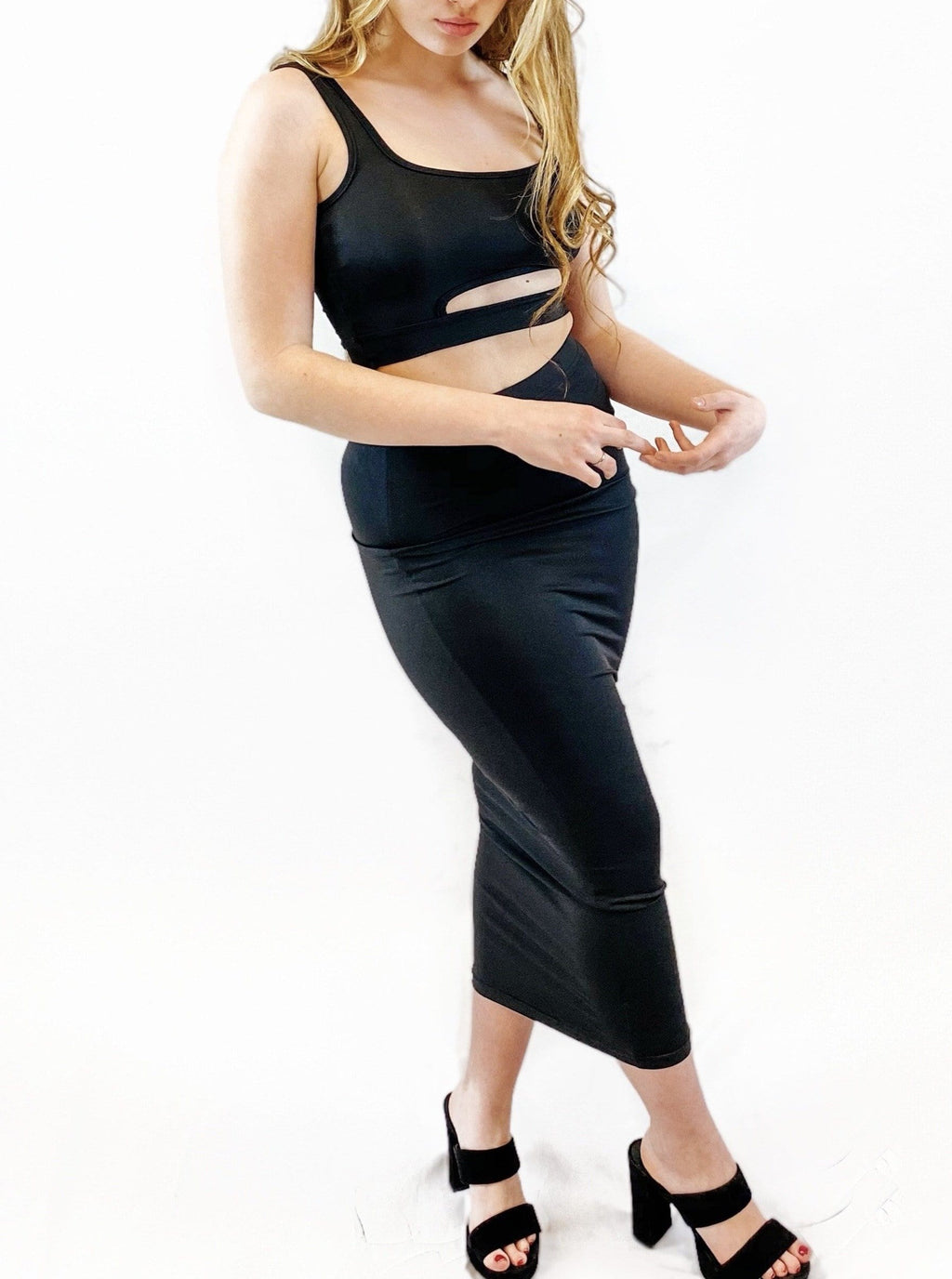 Bandage High Waist Skirt & Crop Top Set - bigcityboutique