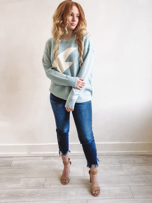 Electric Touch Sweater - Baby Blue