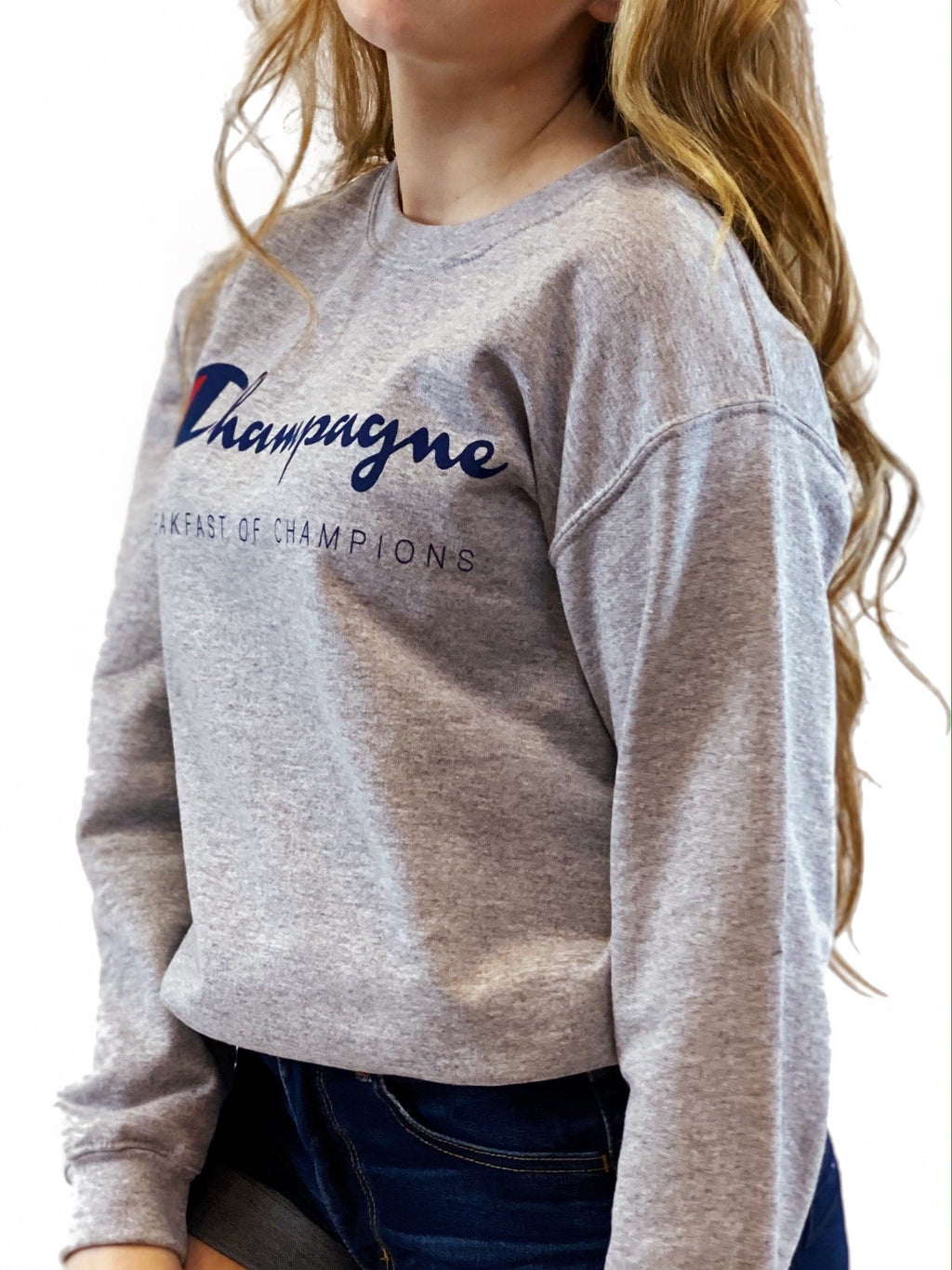 Champagne Breakfast of Champions Sweatshirt - bigcityboutique