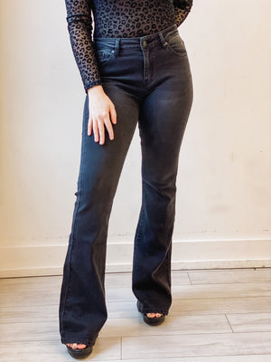 Mia Jeans - Ultra Soft, Black Flare