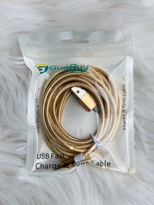 Charging Cable - 10ft long - IPHONE/LIGHTNING CABLE