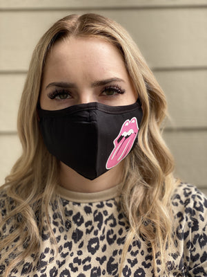 Washable & Reusable Mask - Pink Lips