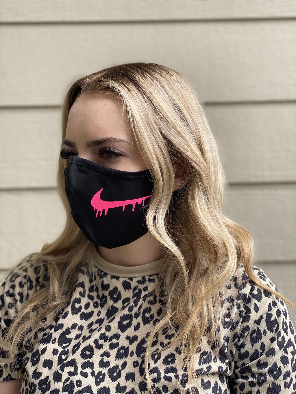 Washable & Reusable Mask - Nike Drip in Pink