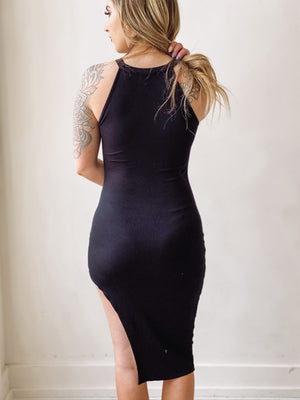Remember Me Asymmetrical Black Dress