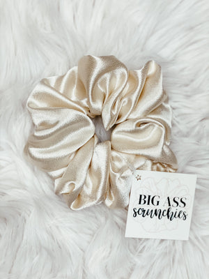Big Ass Scrunchie- Cream Satin