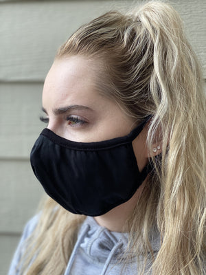 Mask - Solid (black)  (10 Pack/$8 ea)