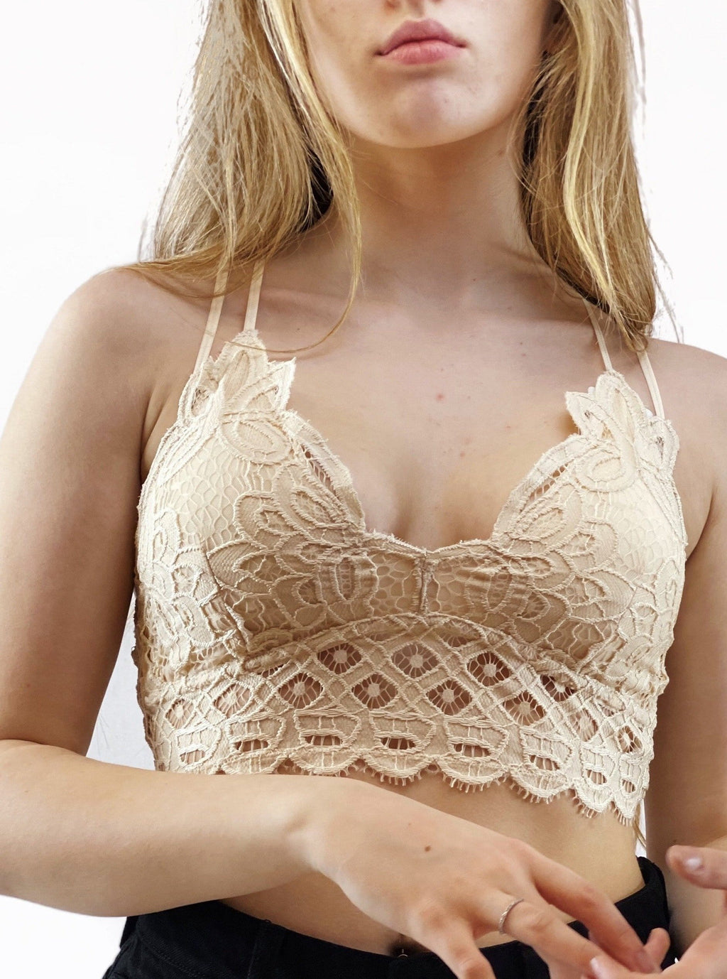Lace Bralette - Cream - bigcityboutique