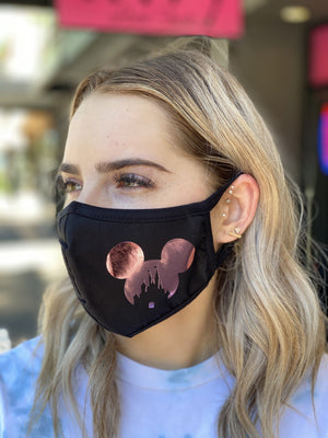Mask - Mickey Castle (rose gold foil)